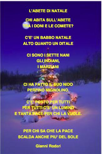 "Poesia Rodari ""L'abete di Natale"""